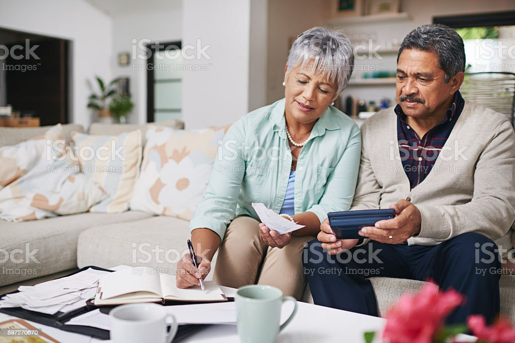 Budgeting works better when we do it together stock photo