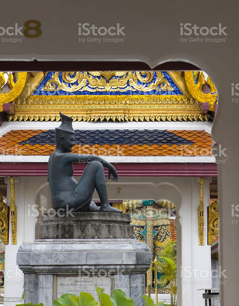 Budha with numbers royalty-free stock photo