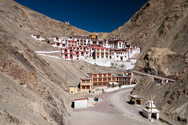 budhist monastery rhizong, ladakh, india - mahroch stock pictures, royalty-free photos & images