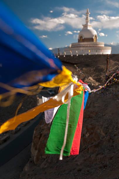 Budhist Shanti Stupa in Leh, Ladakh, India Budhist monument Shanti Stupa in Leh, Ladakh, India mahroch stock pictures, royalty-free photos & images