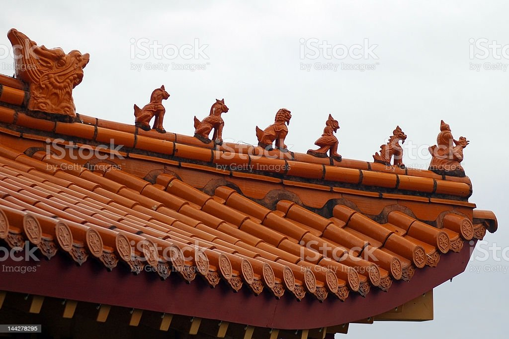 budhist temple detail royalty-free stock photo