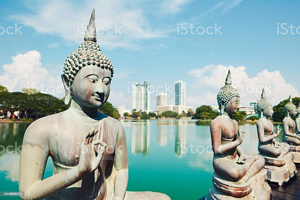 Budhist temple in Colombo stock photo