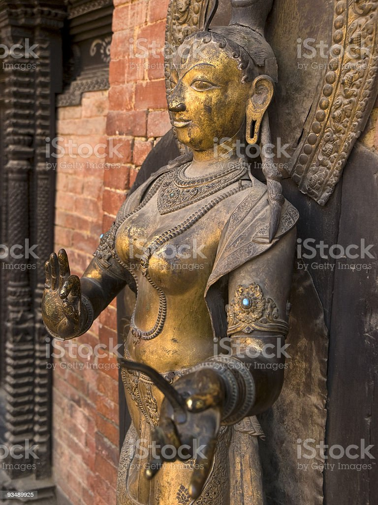 Budist statue, copper royalty-free stock photo