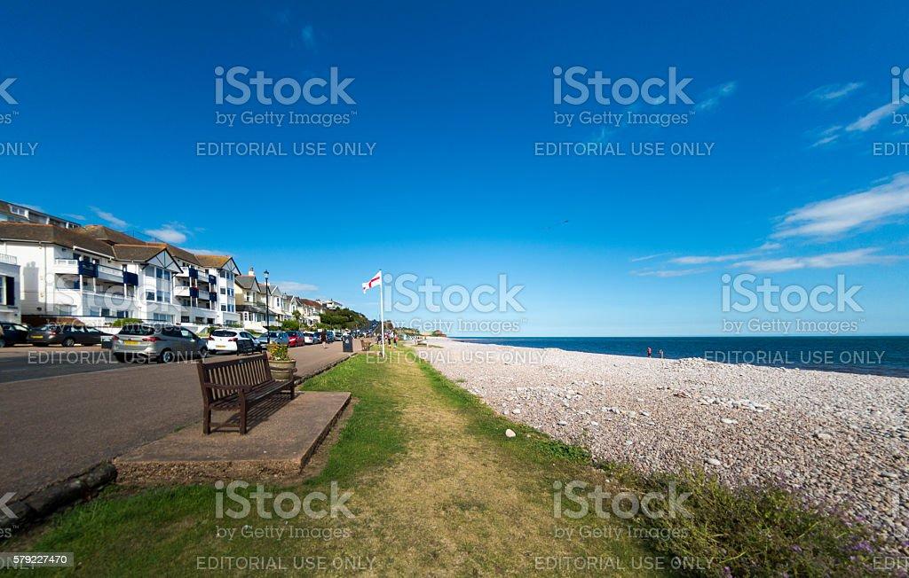 Budleigh Salterton in Devon stock photo