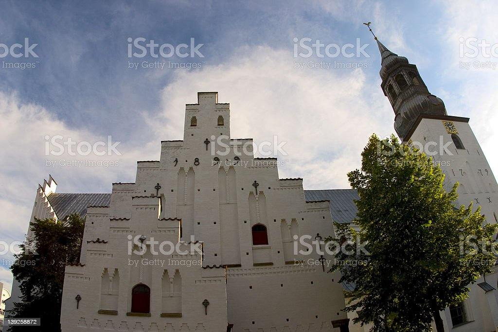 Budolfi Cathedral in Aalborg, Denmark stock photo