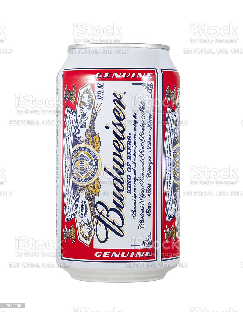 Budweiser Beer Can stock photo