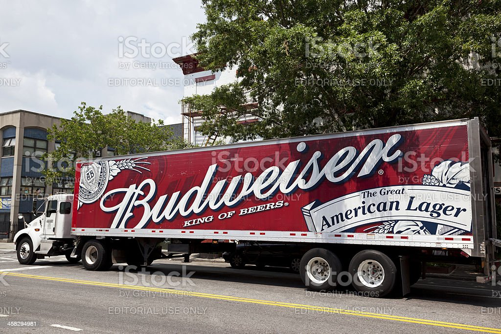 Budweiser delivery truck royalty-free stock photo