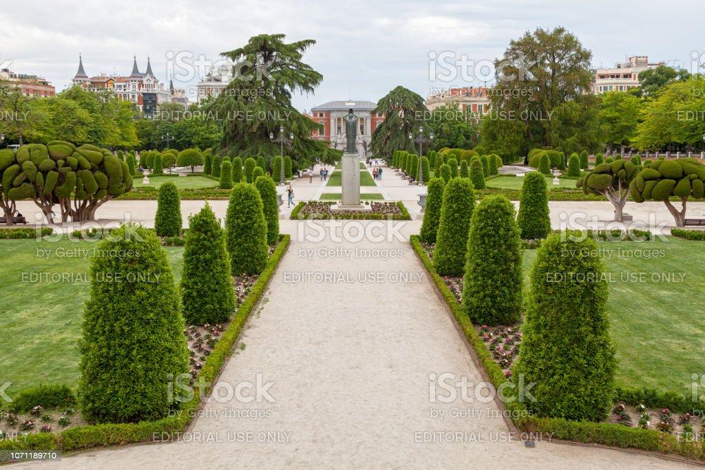 Buen Retiro Park in Madrid stock photo