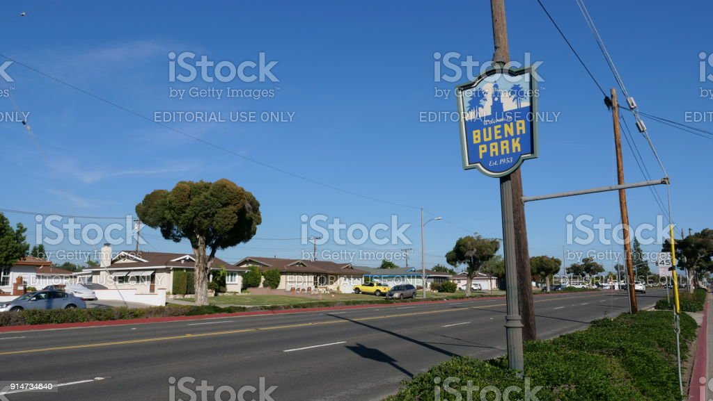 Buena Park Orange County California stock photo