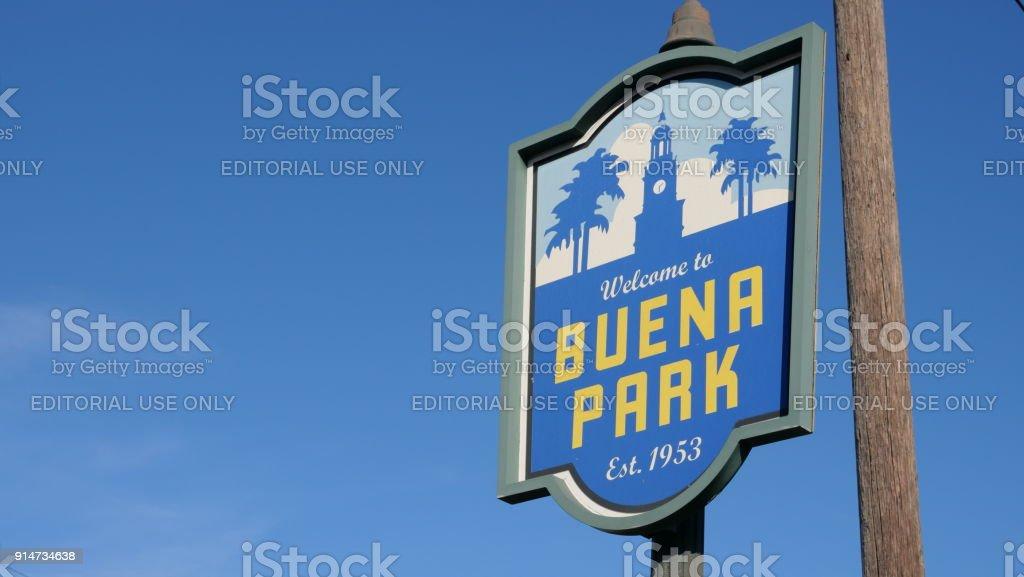 Buena Park Sign Orange County California stock photo
