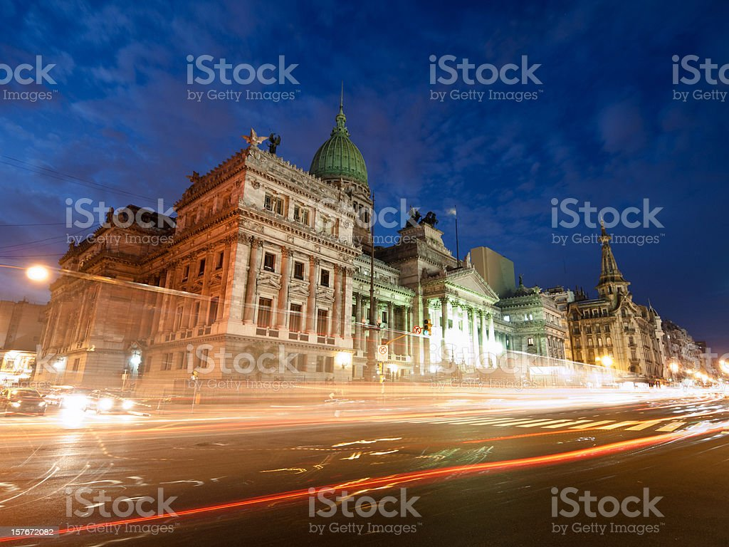 Buenos Aires Argentina - Congress building royalty-free stock photo