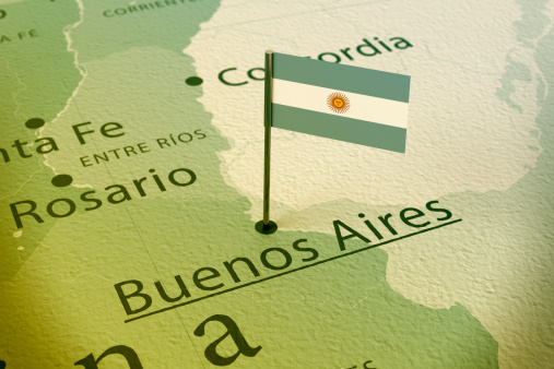 istock Buenos Aires Argentina Flag Pin Map Vintage 481097425