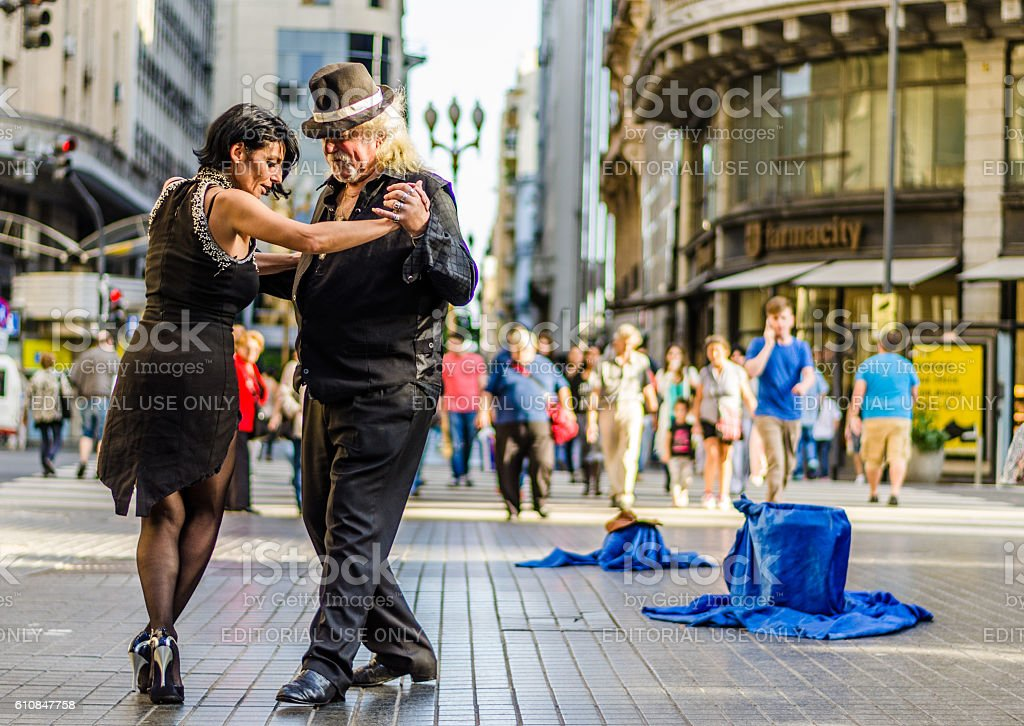 Buenos Aires, Argentina – July 11, 2016: Unidentified tango dancers stock photo