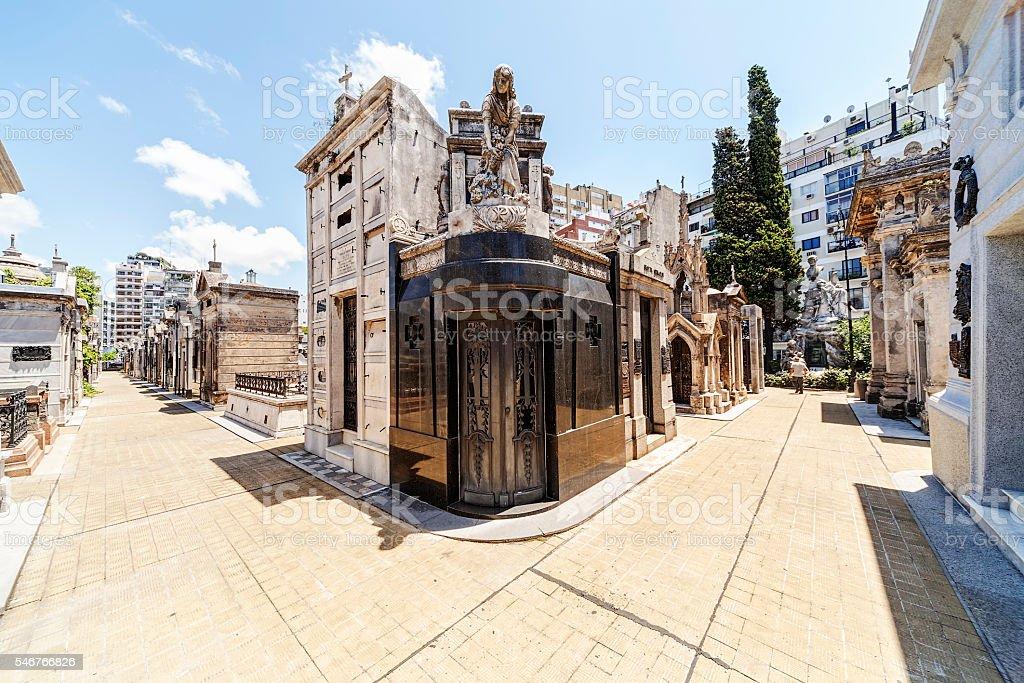Buenos Aires cemetery stock photo
