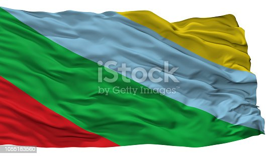 istock Buenos Aires City Flag, Costa Rica, Isolated On White Background 1055183560