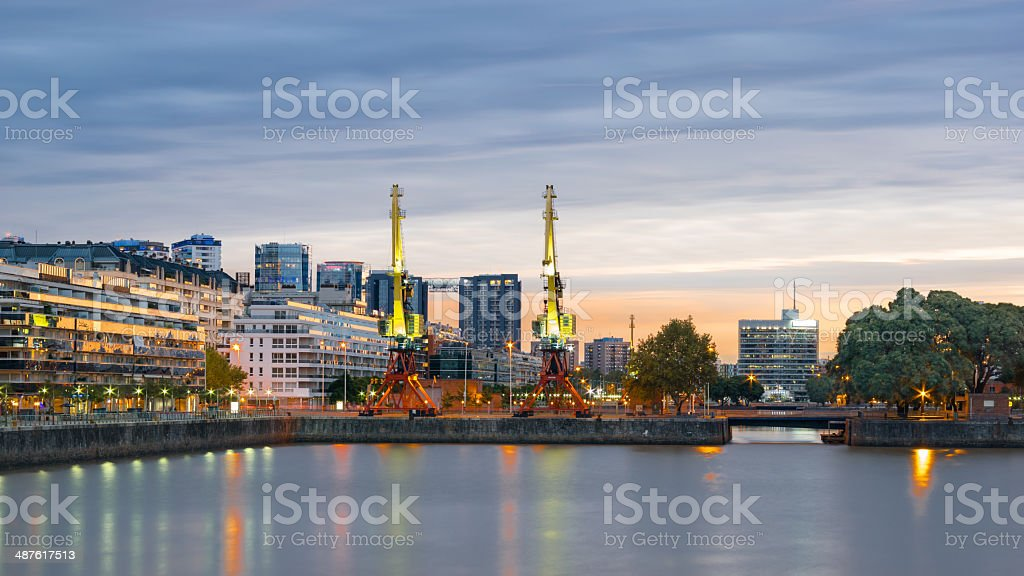 Buenos Aires Cityscape, Capital City of Argentina stock photo
