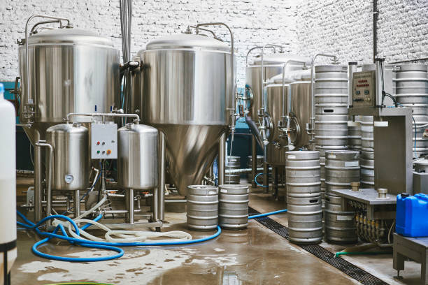 Buenos Aires Craft Beer Brewery Interior stock photo