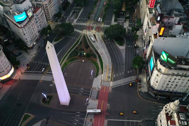Leere Luftaufnahme von Buenos Aires – Foto