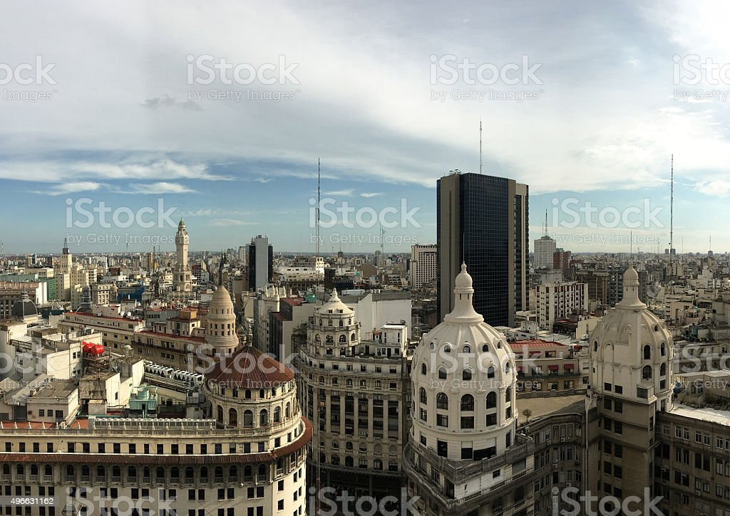 Buenos Aires from above stock photo