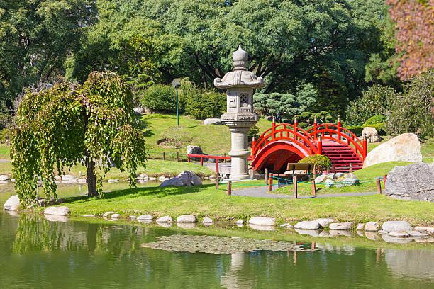 buenos aires japanese gardens - japanischer garten stock-fotos und bilder