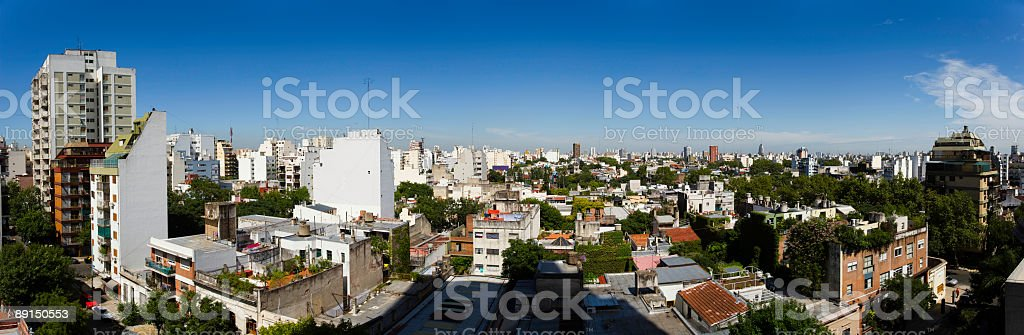 Buenos Aires Panoramic royalty-free stock photo