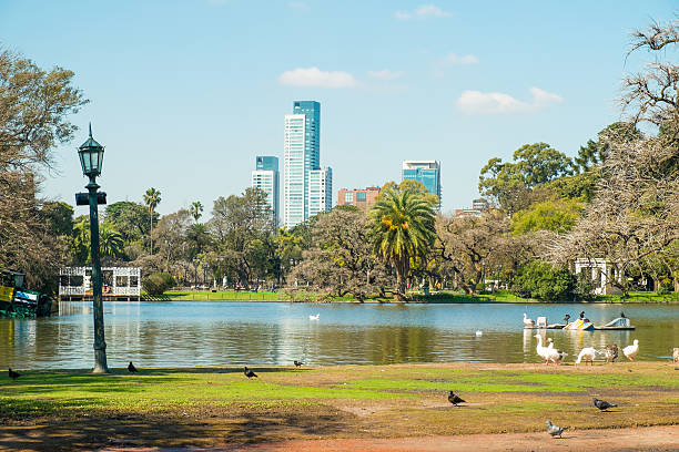 Buenos Aires parks stock photo