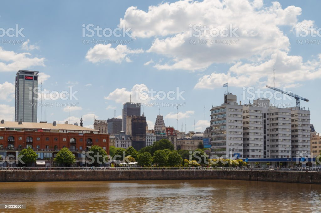 buenos aires puerto madero district stock photo