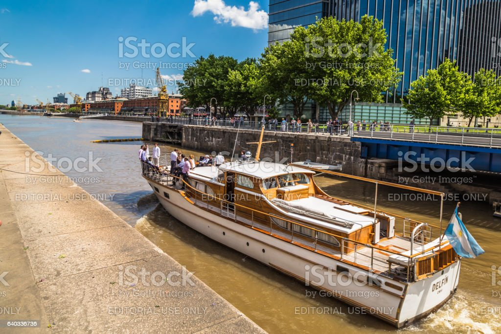 buenos aires puerto madero district yacht port architecture stock photo