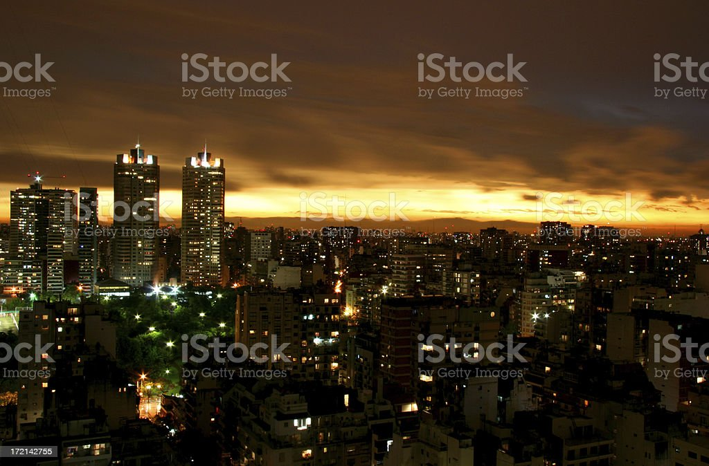 Buenos Aires Sunset royalty-free stock photo