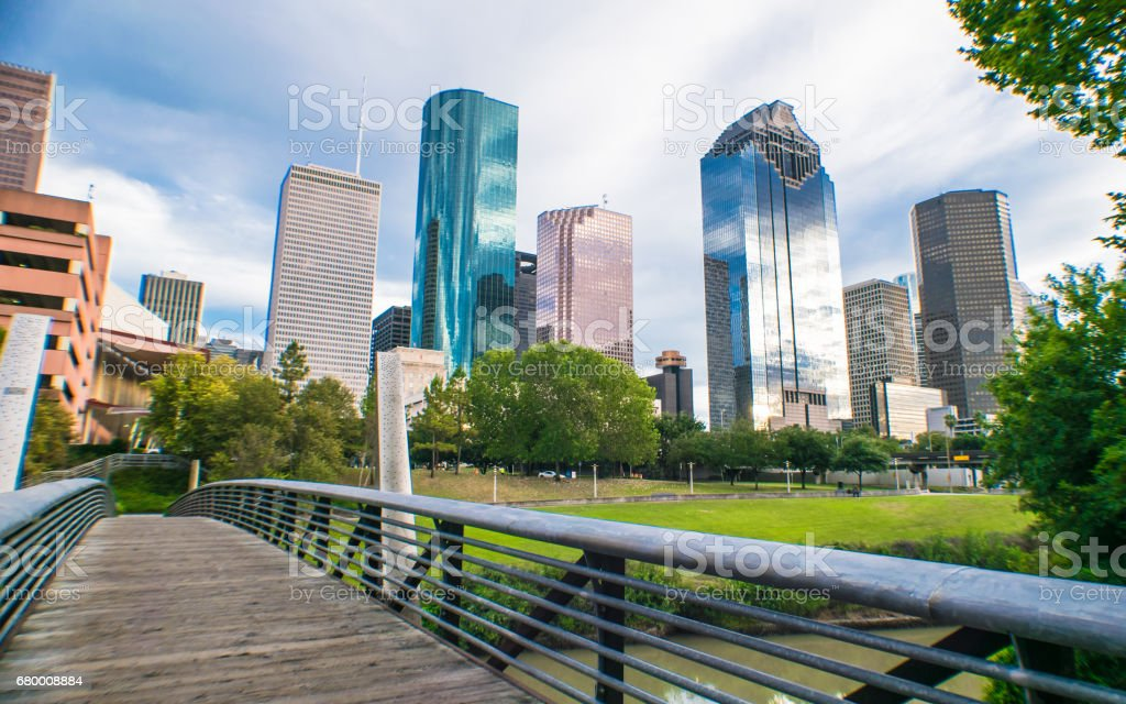 Buffalo Bayou City Walk stock photo