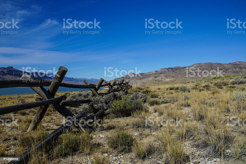Buffalo Bill State Park in Wyoming stock photo