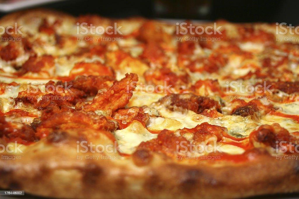Buffalo Chicken Pizza stock photo
