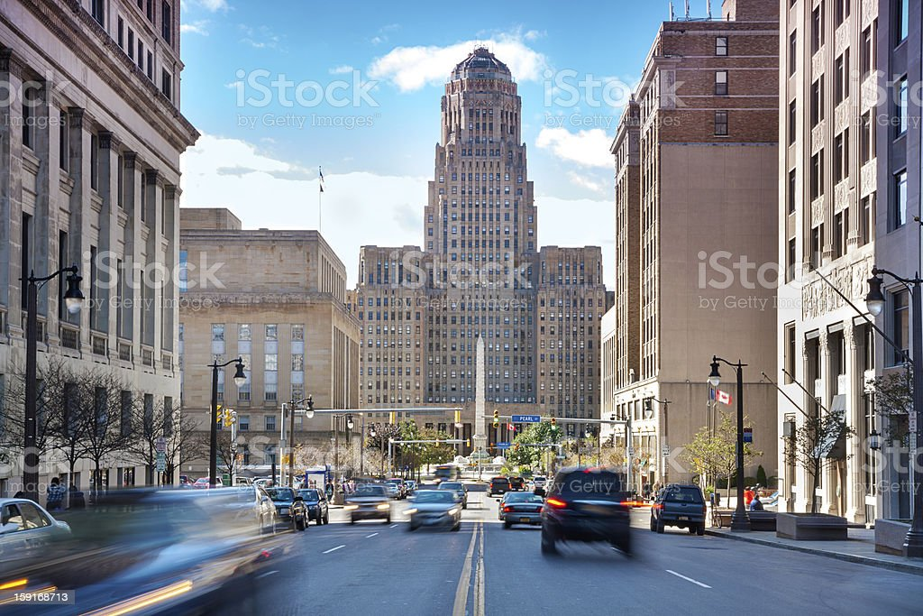Buffalo City Hall and its surrounding. stock photo