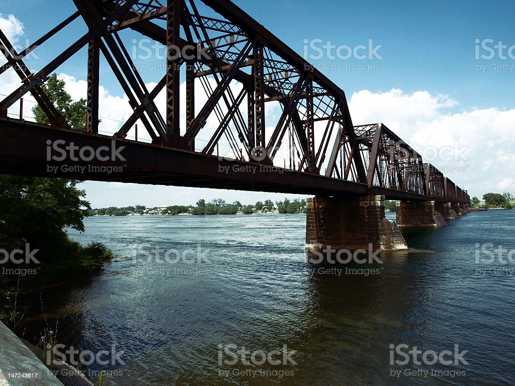 Buffalo/ Fort Erie Bridge royalty-free stock photo