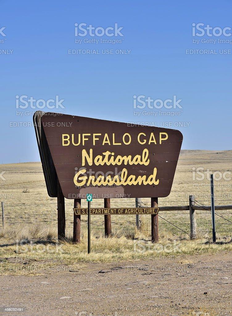 Buffalo Gap National Grassland stock photo