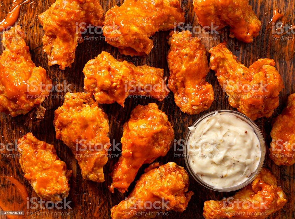Buffalo Hot Chicken Wings stock photo