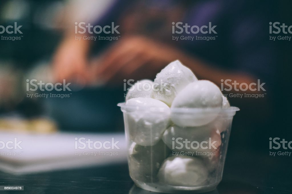 Mozzarella di Bufala Campana stock photo
