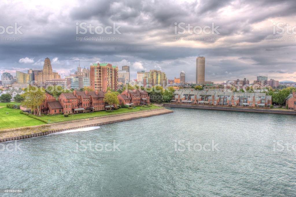 Buffalo New York Cityscape stock photo