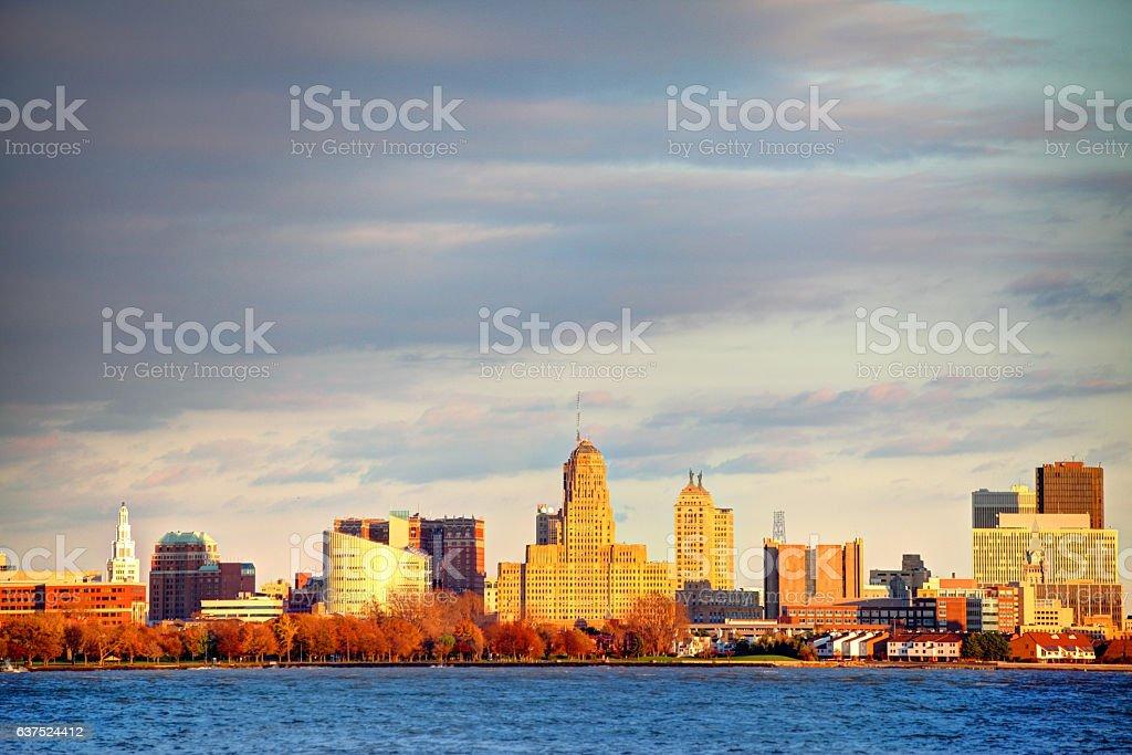 Buffalo New York Skyline stock photo