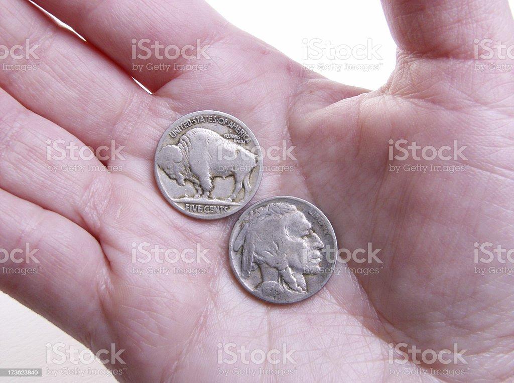 buffalo nickel royalty-free stock photo
