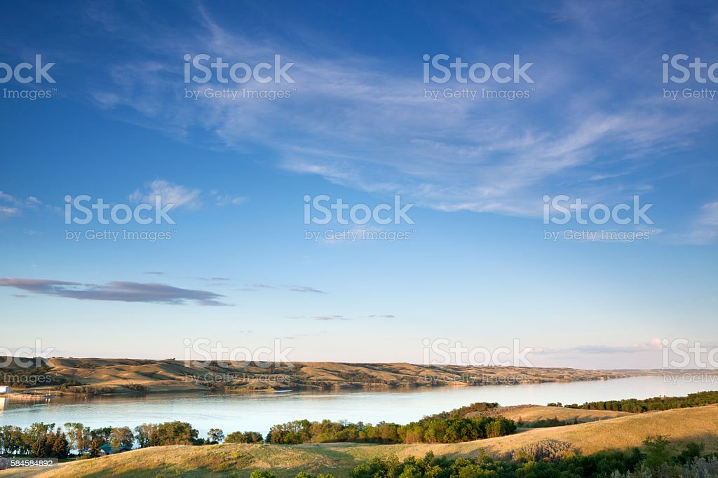 Buffalo Pound Provincial Park Saskatchewan stock photo