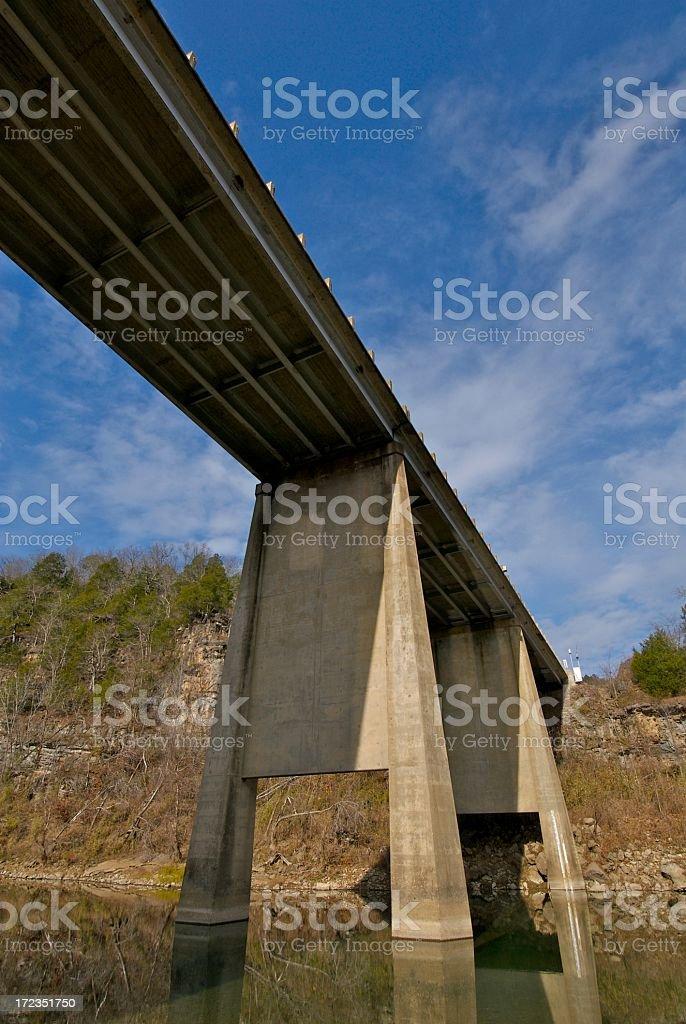 Buffalo River Bridge royalty-free stock photo
