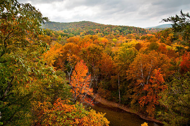 Buffalo River in the Autumn stock photo