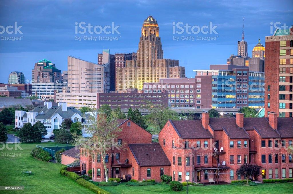Buffalo Skyline stock photo