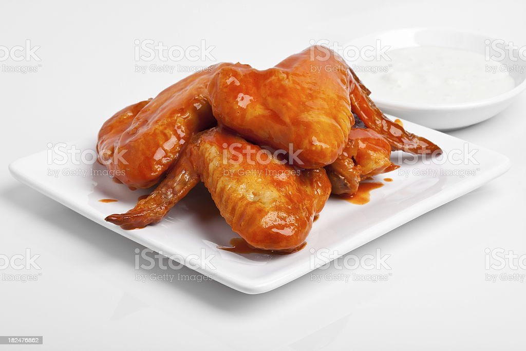 Buffalo Wings and dipping sauce royalty-free stock photo