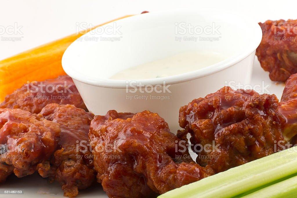 BBQ Buffalo Wings stock photo