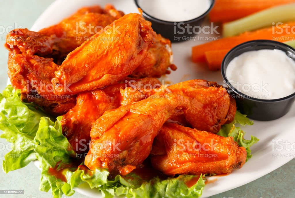 Buffalo Wings with Dip stock photo
