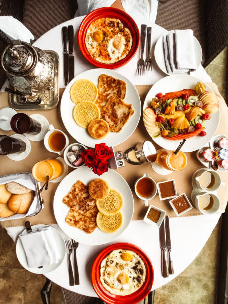 buffet breakfast with fruit buffet breakfast with fruit el tajin stock pictures, royalty-free photos & images