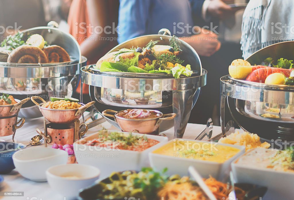 Buffet Brunch Food Eating Festive Cafe Dining Concept stock photo