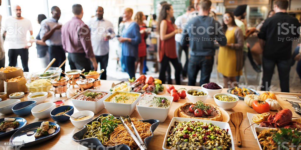 Buffet Dinner Dining Food Celebration Party Concept stock photo